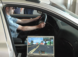 Driving Simulator Set-up with HMD and a Notebook PC