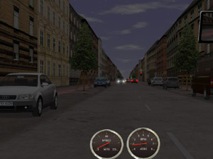 KMW Driving Simulation Engine Screen Shot (clickable)